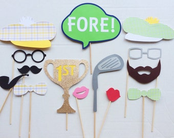 Golf Birthday Photo Booth Props; Golf Party Decor ; Photo booth Props; Golf Party; Golf Decor; Golfer Photo Prop
