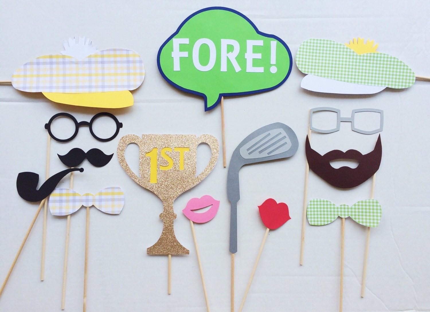 Golf Birthday Photo Booth Props Golf Party Decor Photo