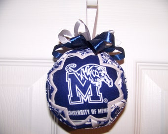 University Of Memphis/ Tigers Quilted Ornament