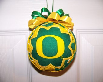 University of Oregon/ Ducks Quilted Ornament