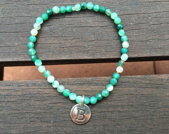 Moss Agate Stackable Bracelet