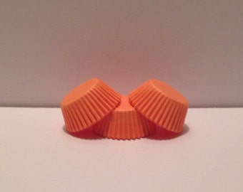 Mini Peach Grease Resistant cupcake liners/baking cups- 50 count
