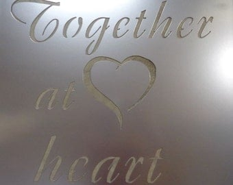 Metal plaque TOGETHER AT HEART