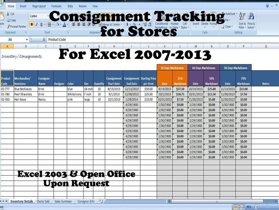 Consignment Tracking for Stores Inventory Tracking