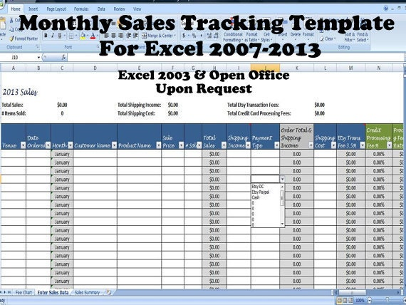 Monthly Sales Tracking Template Direct Sales Planner Sales