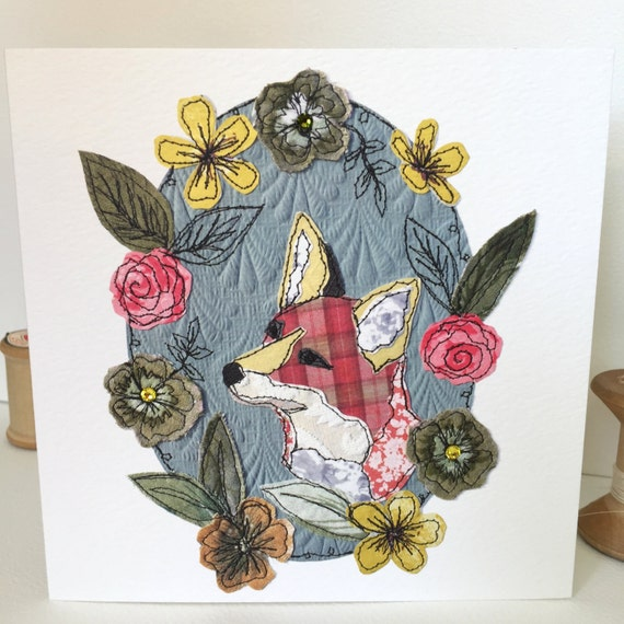 Mr Fox-Greeting Card- handfinished