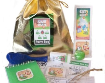 Cut the Rope Party/loot bags with 9 items inside
