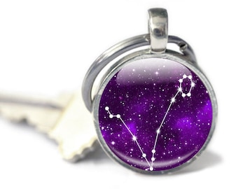 Pisces Gifts - Pisces Keyring - Zodiac Gifts - Pisces Constellation Keychain