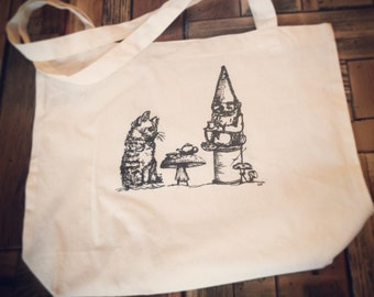 The Indifferent Tea Party Tote Bag-American Apparel Canvas Bag Tote Bag
