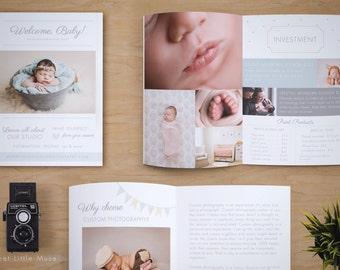 Newborn Magazine Template - Newborn Photography Magazine Template - Photography Marketing Magazine