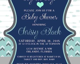Tribal Baby Boy Shower Invitation