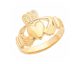 14k gold claddagh ring. Men's claddagh ring,Irish ring, Men's irish ring, Claddagh
