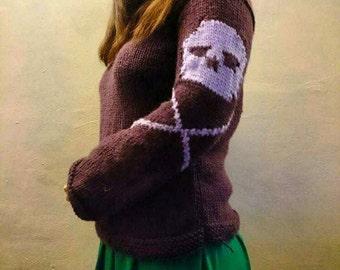 Hand knitted Skull and Crossbones Jumper (custom)