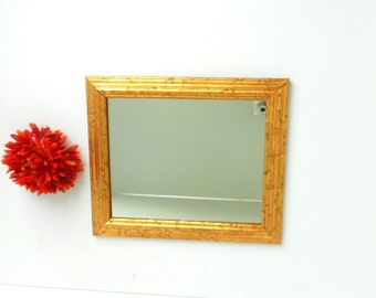 12x10, Mirror, Decorative Mirror, Gold Frame Mirror, Wall Hanging Mirror, Wall Mirror, Distressed Gold Leaf Mirror, Gold Mirror,Glass Mirror