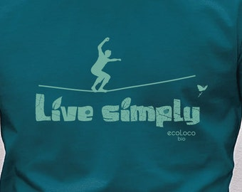 Slackline Live simply organic t shirt ecoLoco