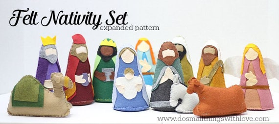 Sew your own christmas nativity felt nativity scene sewing pattern by do small things with love solutioingenieria Choice Image