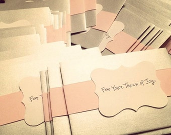 Silver Tissue Packets With Light Band