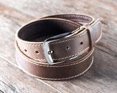 Mens Leather Belt, Leather Belt w/ninja HIDDEN Pocket, FREE Personalization, Belts for Men, Handmade Leather Belt, Man Belt [Listing #091]