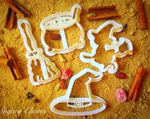 Halloween witches cookie cutters set
