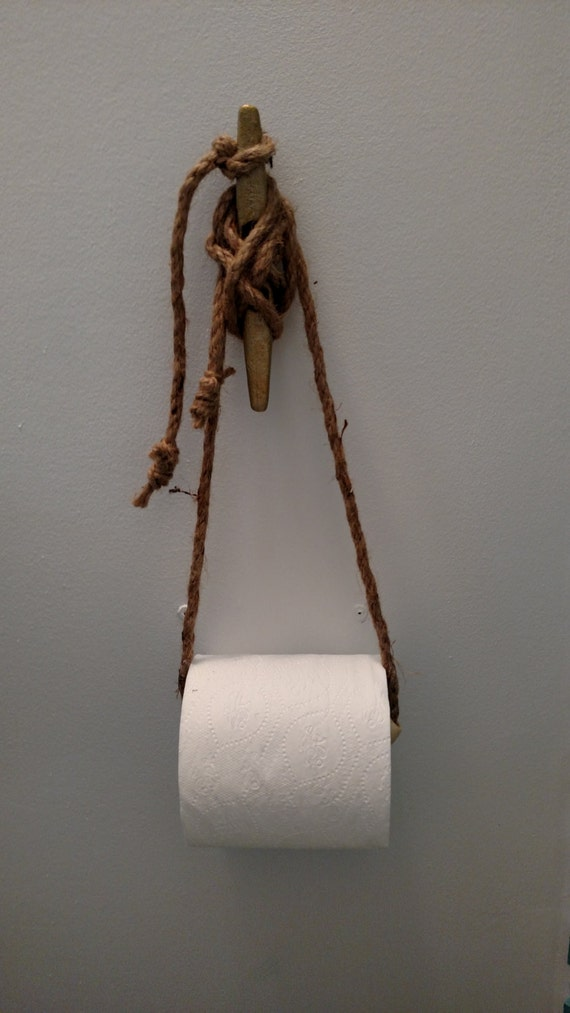 Nautical toilet paper holder beach bathroom decor coastal - Beach toilet paper holder ...
