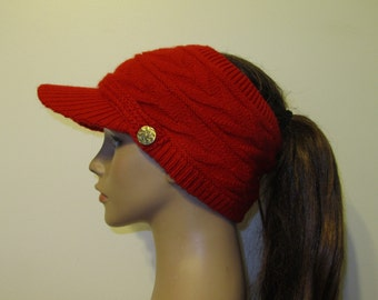 Ponytail hat: Sporty Style Open-Top Design - Available in Solid Colors