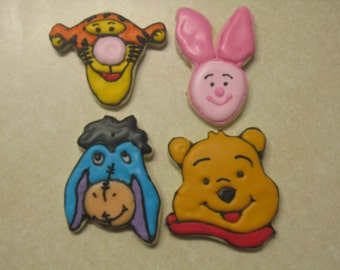 12 Winnie the Pooh and Friends Fan Art Cookies