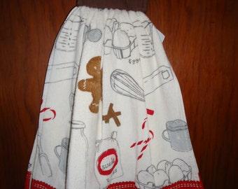 Baking Gingerbread Cookies Christmas Towel