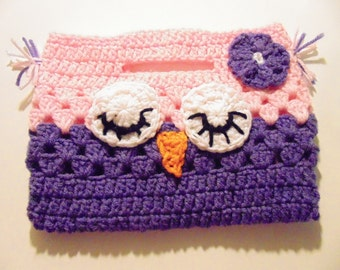 Crochet Owl Purse, Girls Purse, Crochet Purse,