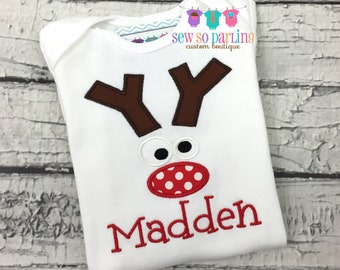 Reindeer Christmas Baby Outfit - Baby Boy Christmas Outfit - Toddler Christmas Shirt -  - Reindeer Shirt