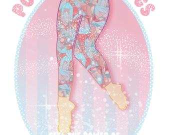 Made To Order Pink Crystal Leggings