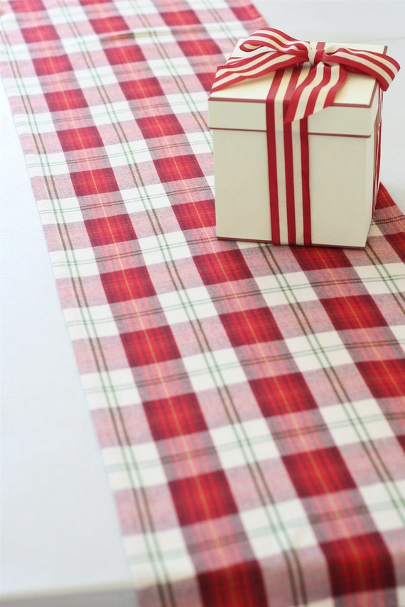 Christmas Tartan Table Runner Plaid Tartan Table Runner