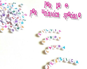 Bracelet personalized with name multicolor
