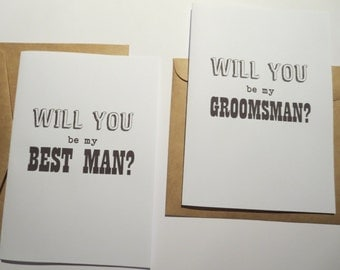 Will you be my Groomsman/ Best Man Card- C35a
