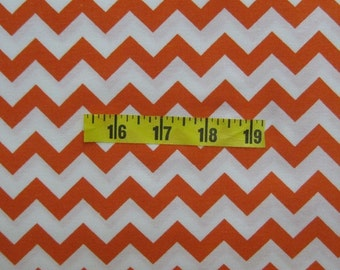 Orange Chevron Fabric by the yard