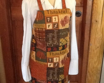 Be Thankful reversible apron