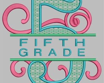 GG1549 Swirly Fifth Grade