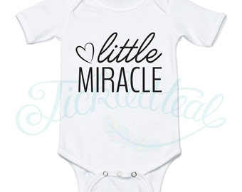 Little Miracle Baby Onesie - Tickled Teal