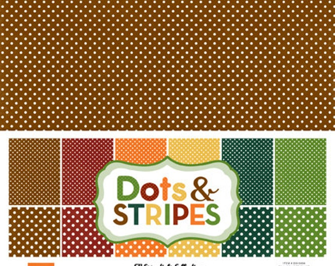Echo Park Paper DOTS & STRIPES Fall 12x12 Scrapbook Paper Collection Kit (2 Sizes of Dots/No Stripes) DS15039