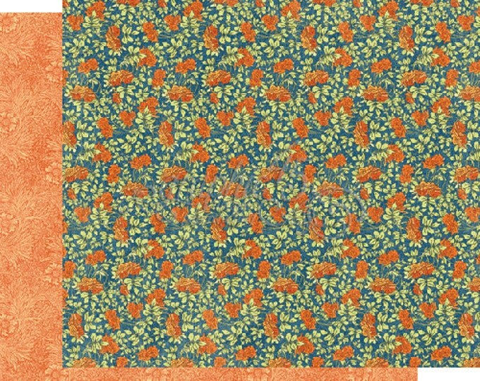 2 Sheets of WORLD'S FAIR Scrapbook Paper by Graphic 45 - Flower Power