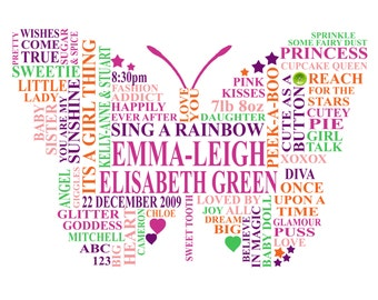 A4 Butterfly child Typography