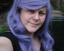 Pastel Purple Wig, Purple wig, lavender wig, Cosplay, Long purple Wig, grey Purple, gray, long, wavy, side swept Bangs, lilac, cosplay,