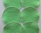 6 x Sherpa Cotton Mini Facial Makeup Remover Pads (9cm dia)  - Australian Made