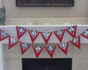 Happy Birthday Pennant Banner, Bright Birthday Banner, Colorful Birthday Banner, Adult Birthday Banner, Kids Birthday banner
