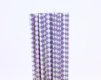 Lavender Diamond Paper Straws-Diamond Straws-Princess Straws-Sweet 16 Birthday Party Straws-Lavender Paper Straws-Lemonade Straws