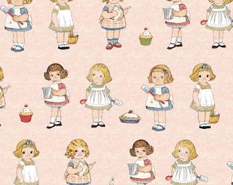 Riley Blake Designs - #C4353 - PINK Paper Dolls