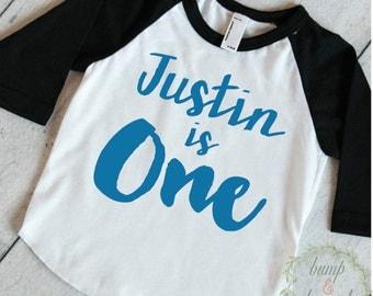 First Birthday Outfit Boy One Year Old Boy Outfit Boy First Birthday Shirt PERSONALIZED Outfit First Birthday Boy Shirt Raglan 091