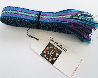 Handwoven Ribbon, Inkle Woven, Great for Friendship bracelet, trim, hat bands, skinny belt