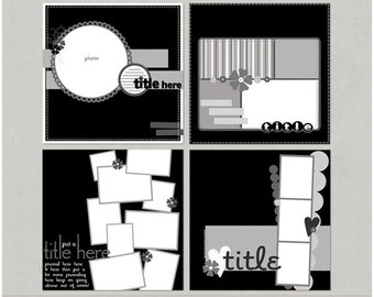 Mixin It Up Again - 12x12 Digital Scrapbooking Templates