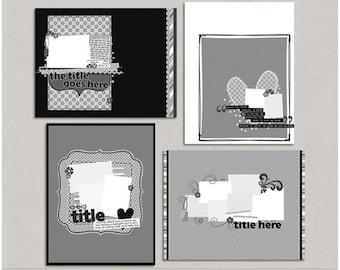 Liftin' Kellie - 8.5x11 Digital Scrapbooking Templates