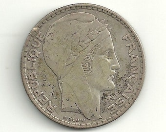 a nice old 1938 France 20 Francs KM879 Silver coin